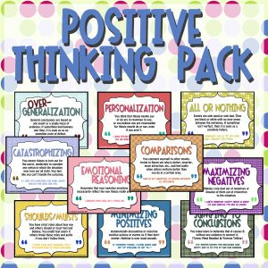 Teaching 10 Common Cognitive Distortions that can lead to negative thoughts - Great for adolescents.