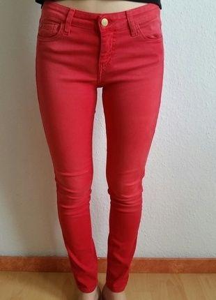 Kaufe meinen Artikel bei #Kleiderkreisel http://www.kleiderkreisel.de/damenmode/rohrenhosen/111269720-rohrenjeans-in-rot