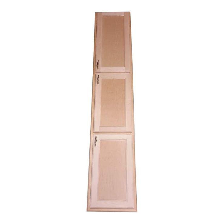 Best Christopher Recessed Solid Wood Three Door Medicine 400 x 300