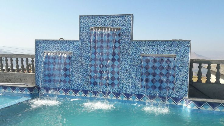 Swimming pools tiles design at Pune variety imparts a beautiful and eye-catching look to the pools.