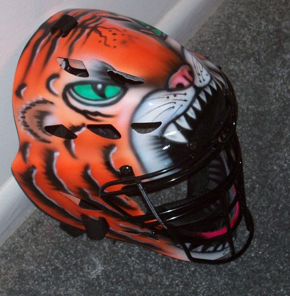 TIGER Airbrush catchers helmet Rawlings YOUTH or by tonysairbrush