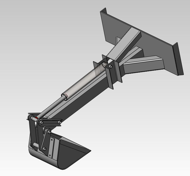 Skid Steer Backhoe Attachment - From Scratch - Machine Builders ...