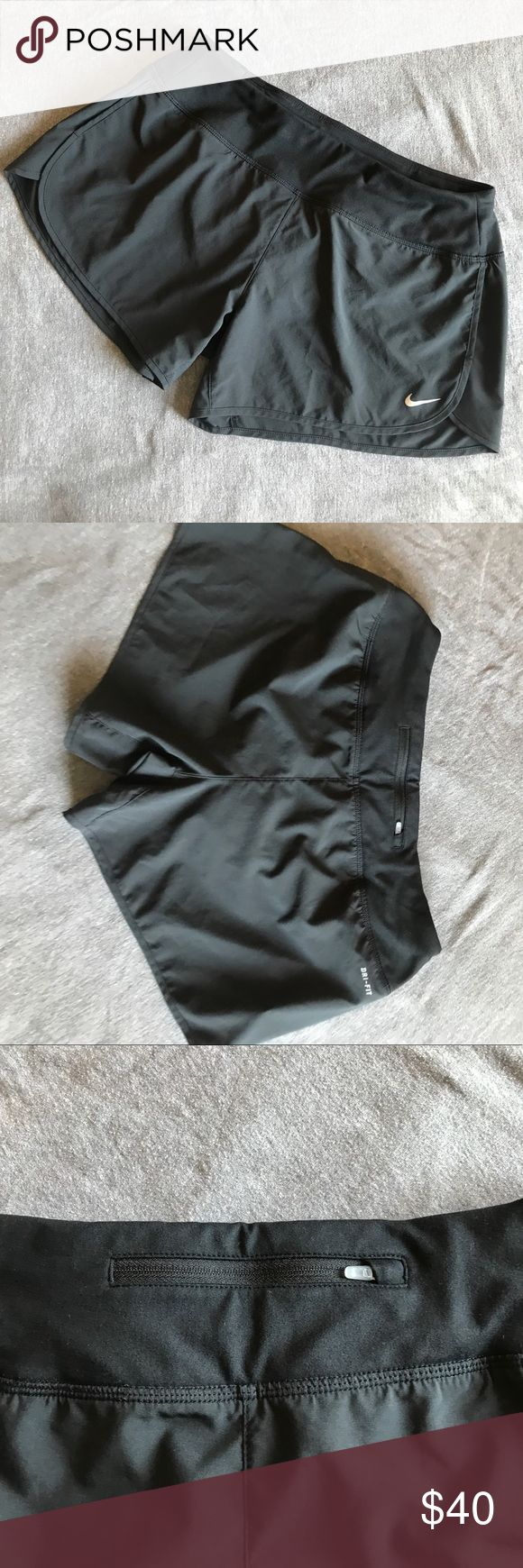 NWOT Dri-Fit Shorts Dry-fit with built in running underwear, thick waist band, draw string, and zipper pouch. Nike Shorts