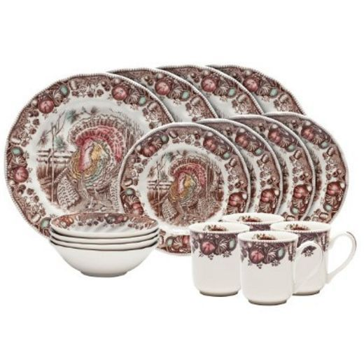 This awesome Thanksgiving dinnerware set is the epitome of Thanksgiving home decorating ideas.  It would be easy to decorate my kitchen around this.   thanksgiving-home-decorating-ideas
