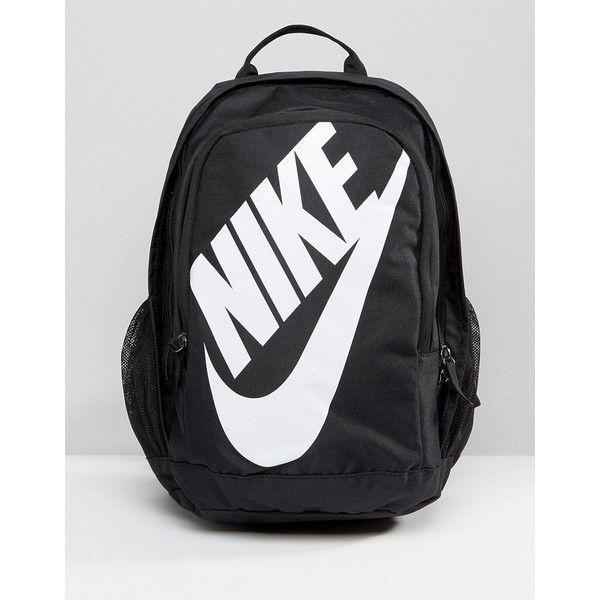 Nike Hayward Futura 2.0 Logo Backpack ($43) ❤ liked on Polyvore featuring bags, backpacks, black, day pack backpack, zip top bag, rucksack bags, backpack bags and nike backpack