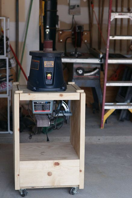 Flip Top Sanding Station Woodworking Woodworking Shop