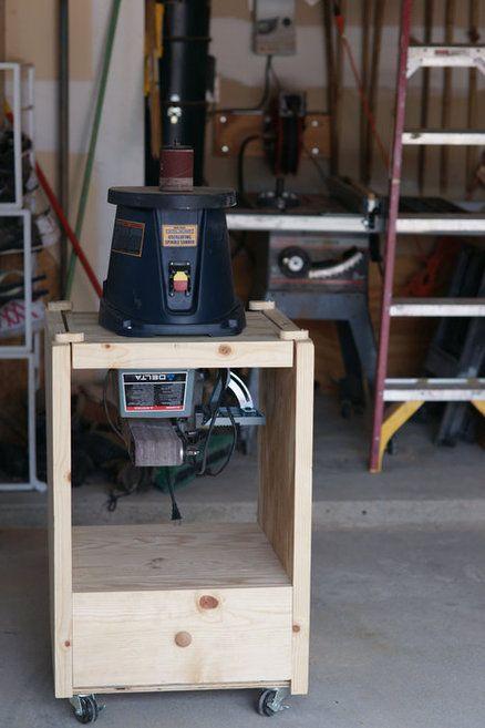 Flip Top Sanding Station Woodworking Woodworking Shop