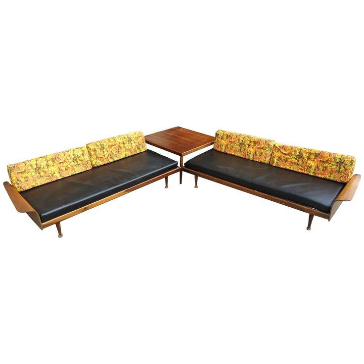 Fantastic Midcentury Sectional Sofa by Frank & Son | See more antique and modern Sectional Sofas at https://www.1stdibs.com/furniture/seating/sectional-sofas