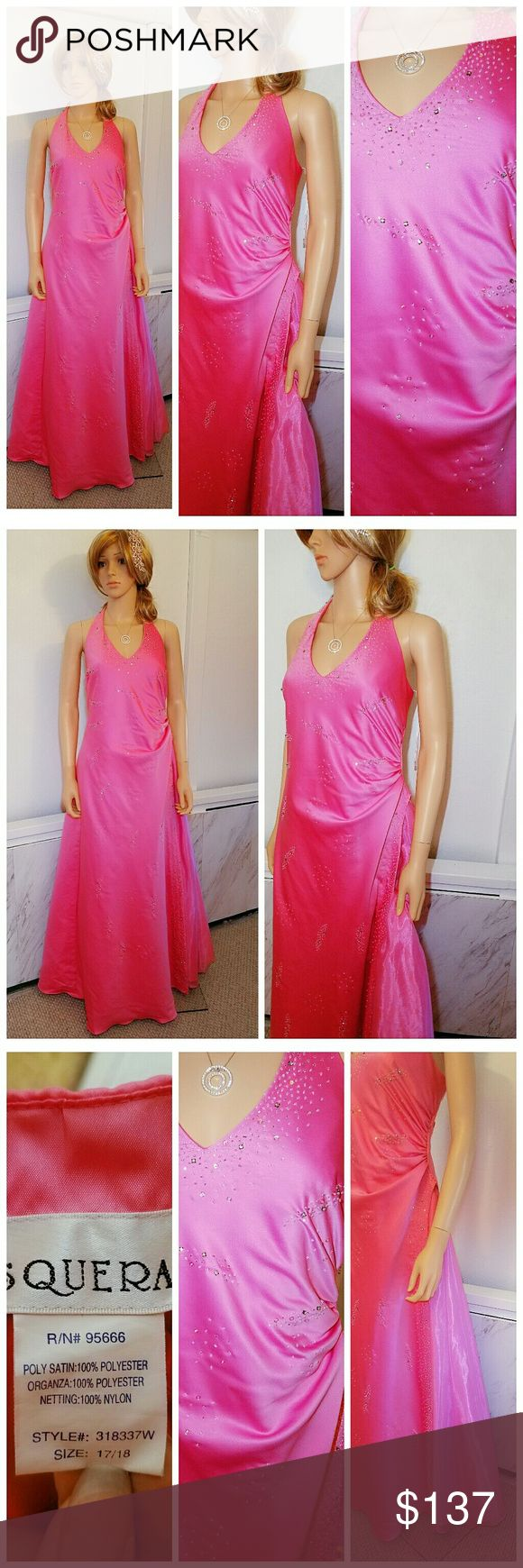 Wedding Prom Formal Gown Dress Pink 17 18 xl Grace any special occasion in this dress. Dress has a classic ball gown silhouette Bodice is adorned with intricate beading and is complimented by a full skirt. That watter falls with beaded detailing Hem features a mesh petticoat for added volume. You will look gorgeous in this gown!   🌹 25% off on bundles   Inventory #98 Dresses Prom