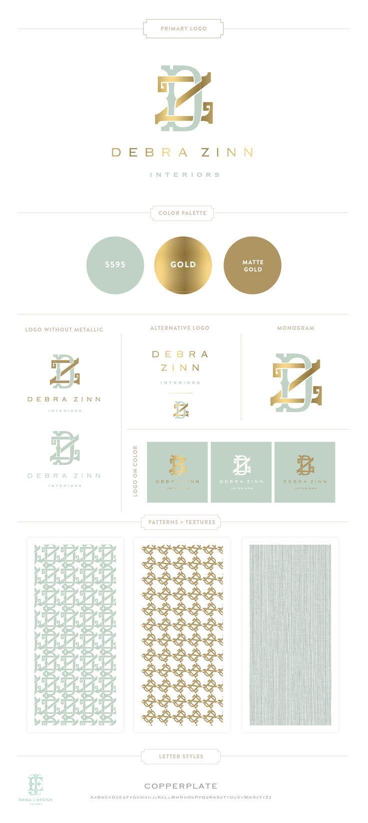 Branding Design for Debra Zinn Interiors   Branding, Logo, Interior Designer…