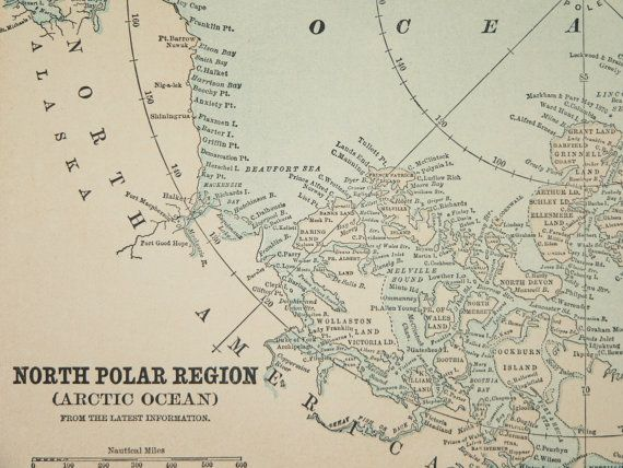 Best 25 north pole map ideas on pinterest christmas village 1896 north pole map arctic ocean map arctic by oldmapsandprints sciox Image collections