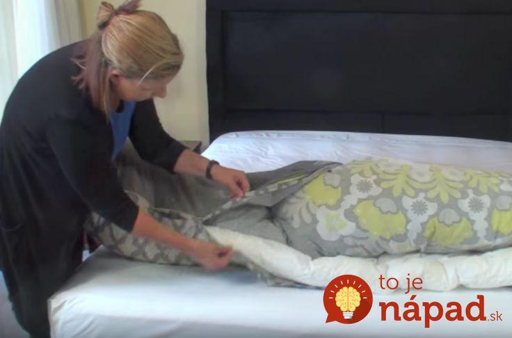 Geniálny trik, ktorý navždy zmení spôsob, ako prezliekate posteľnú bielizeň. Takto to robia profíci!