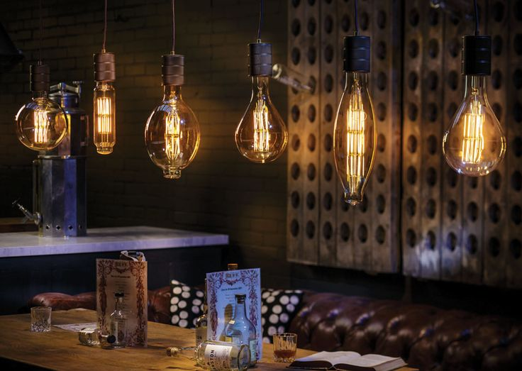 A row of XXL LED lamps   #Sessak #Simple #Elegant #Minimalistic #Bar #Pub #Restaurant