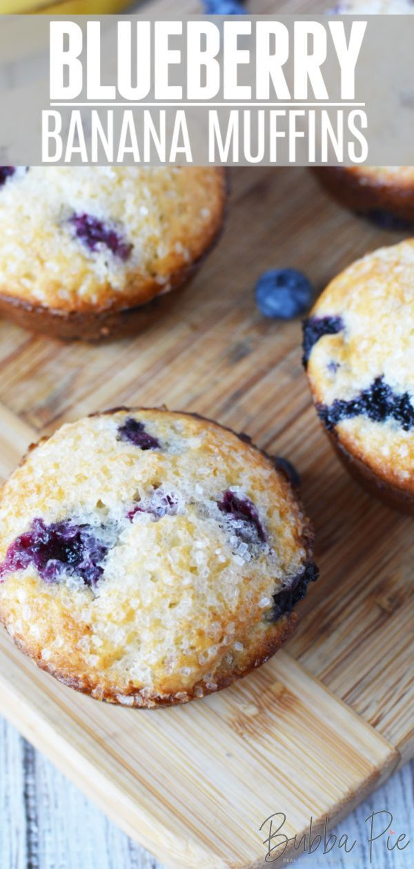 Blueberry Banana Muffins In 2020 Banana Blueberry Muffins Muffin Recipes Blueberry Banana Blueberry