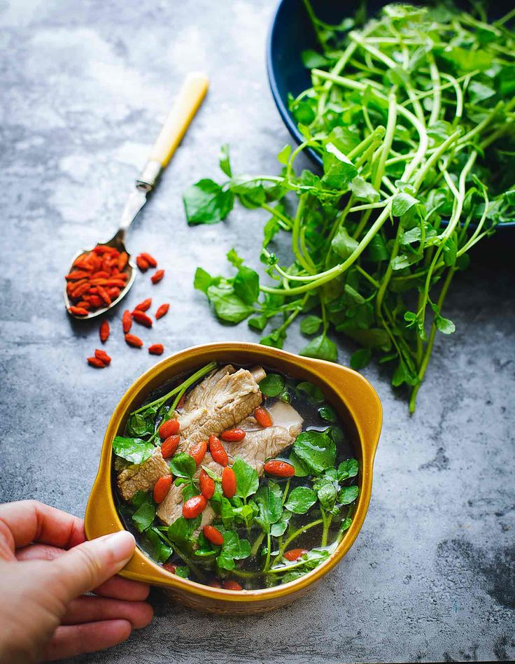 Chinese Food Therapy-Watercress and Goji Berry Pork Rib Soup - Cooking With Lei