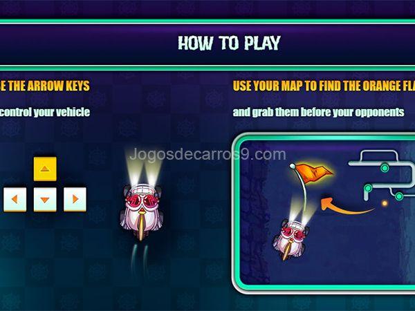 Monstober - Haunted Hunt Jogo, jogos de carros e Monstober - Haunted Hunt. Corrida ao redor ambientes assustadores e capturar as bandeiras tão rápido quanto você pode! Use as setas do teclado para controlar o seu veículo. Use seu mapa para encontrar as bandeiras laranja e agarrá-los antes dos seus adversários