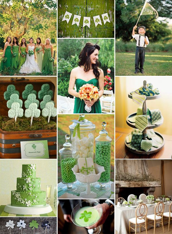 St. Patty's Day wedding! Although I prefer green ACCENTS over green as the main color.