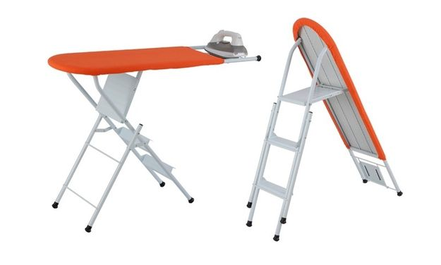 An ironing board that morphs into a step ladder. | 33 Two-In-One Products That Will Make Your Life So Much Easier