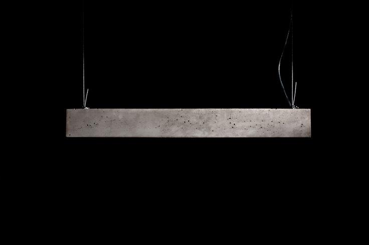 hard concrete lady - simple, modern lamp