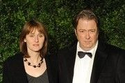Roger Allam attends the 58th London Evening Standard Theatre Awards in association with Burberry on November 25, 2012 in London, England. Accompanying him is his wife, Rebecca, who is 10 years younger than him.