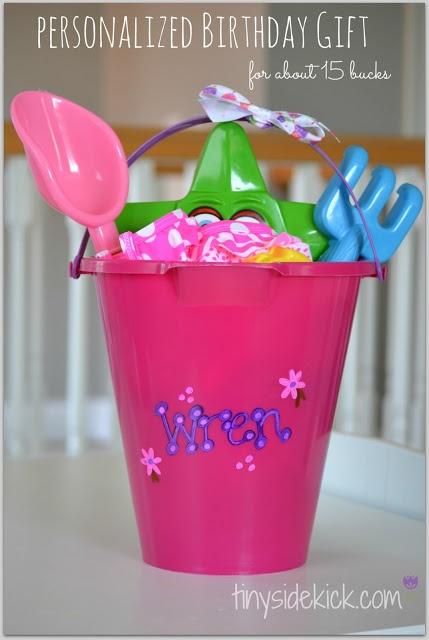 Beach Themed Birthday Gift: perfect for summer tinysidekick.com