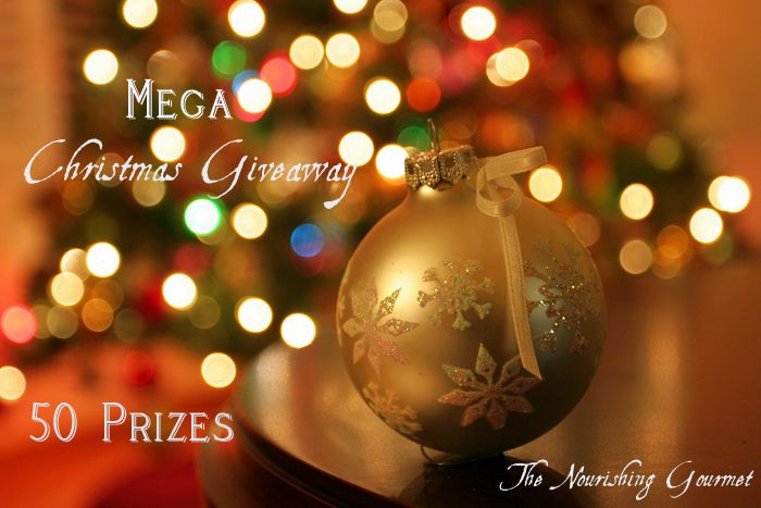 The Nourishing Gourmet  - Mega Christmas Giveaway (50 prizes!)  http://www.thenourishinggourmet.com/2012/12/mega-christmas-giveaway-50-prizes.html  What are you waiting for Enter to win.