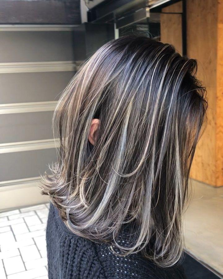 ハイライト カラー ロングヘア パーマ ヘアカラー パー On Instagram