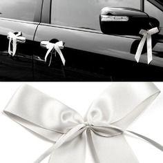 1 noeud papillon satin decoration voiture mariage accessoire maison salle reception blanc