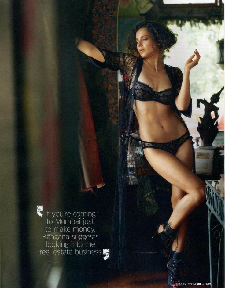 #Fashion #Editorial Indian beauty Kangana Ranaut in the Rosalyn bra and briefs for GQ India