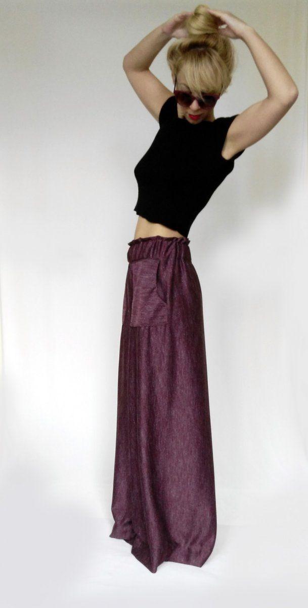 Wide Leg Trousers Bordeaux