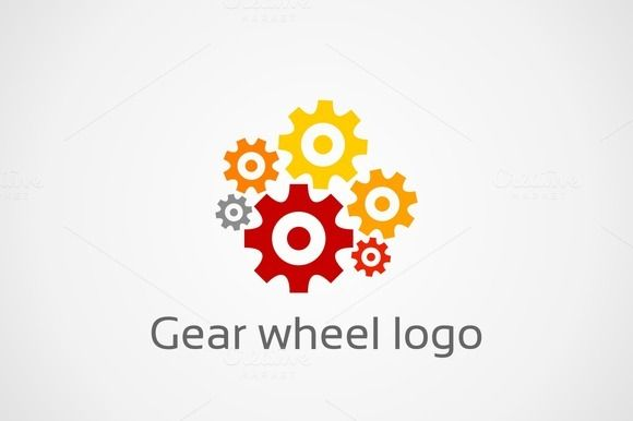 Gear wheel logo by Vector30.com on Creative Market