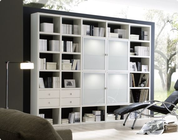b cherregal lack wei matt b cherwand bibliothek tara. Black Bedroom Furniture Sets. Home Design Ideas