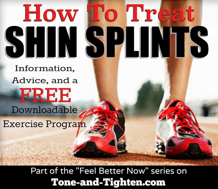 How to treat shin splints at home - advice from a physical therapist on Tone-and-Tighten.com