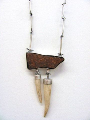 Lauren Passenti: Deer Antler Necklace titled, Two Hundred and Seventy Four Pennies.