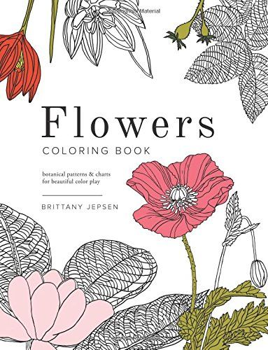 Flowers Coloring Book Botanical Patterns And Charts For