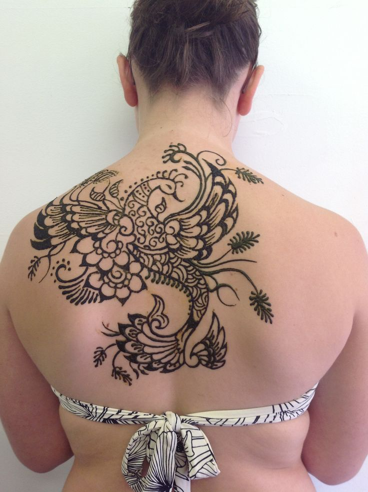 Henna Peacock Tattoo Lower Back: Peacock Henna Tattoo :) I Got This Done At Grand Bend