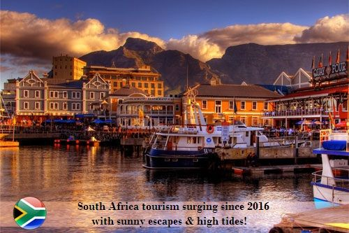 South Africa Tourism surging since 2016 with sunny escapes and  high tides