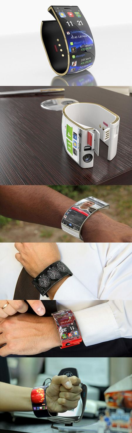 SmartWatch iOS-Like Interface, Flexible OLED Twin-Display - Technology Blog