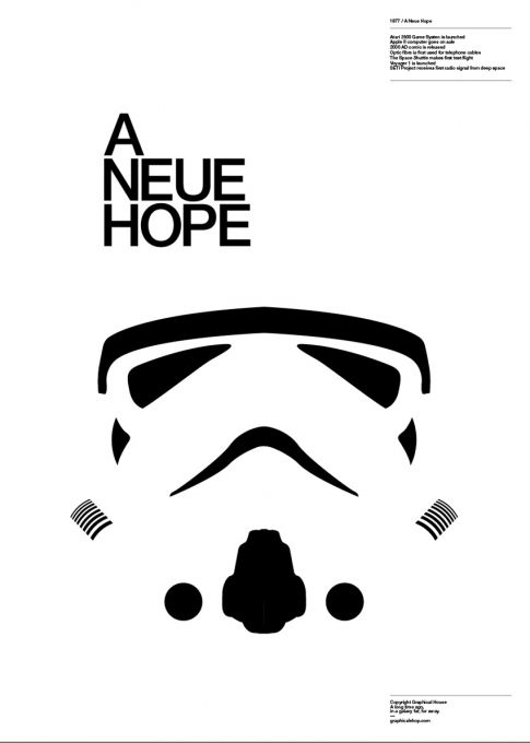 'Graphic designers, Star Wars and Helvetica puns'. Nice work by http://www.graphicalhouse.co.uk/.