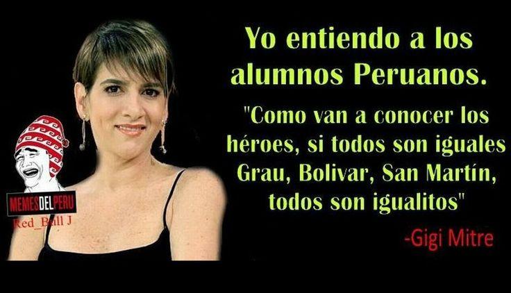 """Gigi Mitre es balnco de memes por decir que todos los héroes peruanos """"son iguales"""". #trome"""