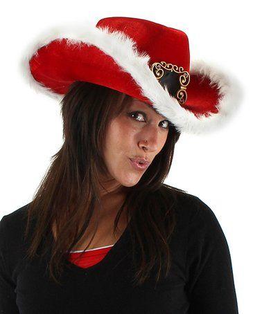 Look at this #zulilyfind! Red Santa Cowboy Hat #zulilyfinds