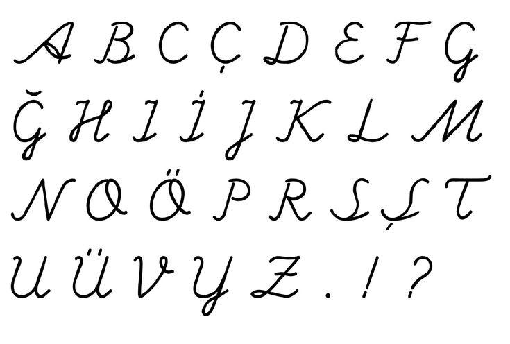 el yazısı büyük harfler, ilkokul el yazısı, turkish primary school hand writing