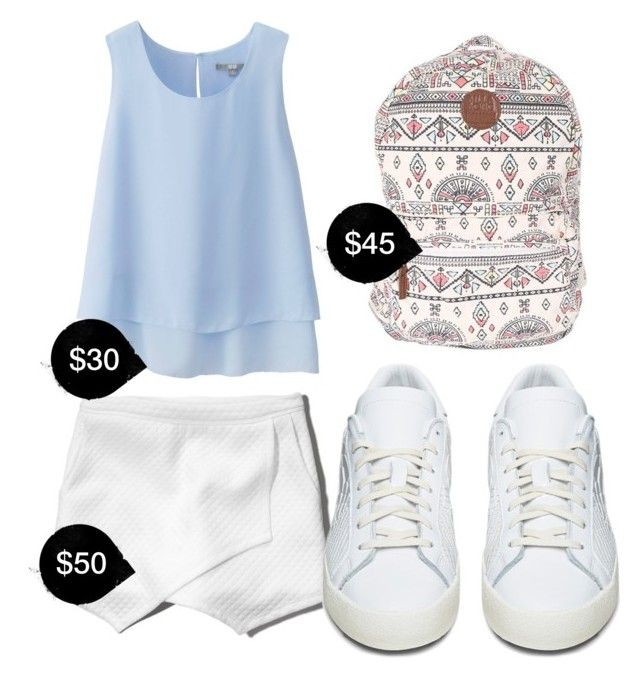 """""""My First Polyvore Outfit"""" by gloriag2004 ❤ liked on Polyvore featuring Uniqlo, Abercrombie & Fitch, Billabong and adidas Originals"""