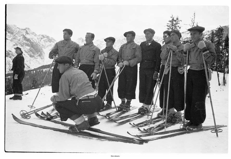 Winter 1936 - Garmish-Partenkirchen Winter Games Alpine skiing events were held for the first time, but ski instructors were barred as being professionals. This lead to an Austrian and Swiss boycott, and to the decision not to have skiing events in the 1940 Games. Canada finally lost an ice hockey match when Great Britian took the Gold, however almost all of the British players lived in Canada. image source: http://www.olympic.org