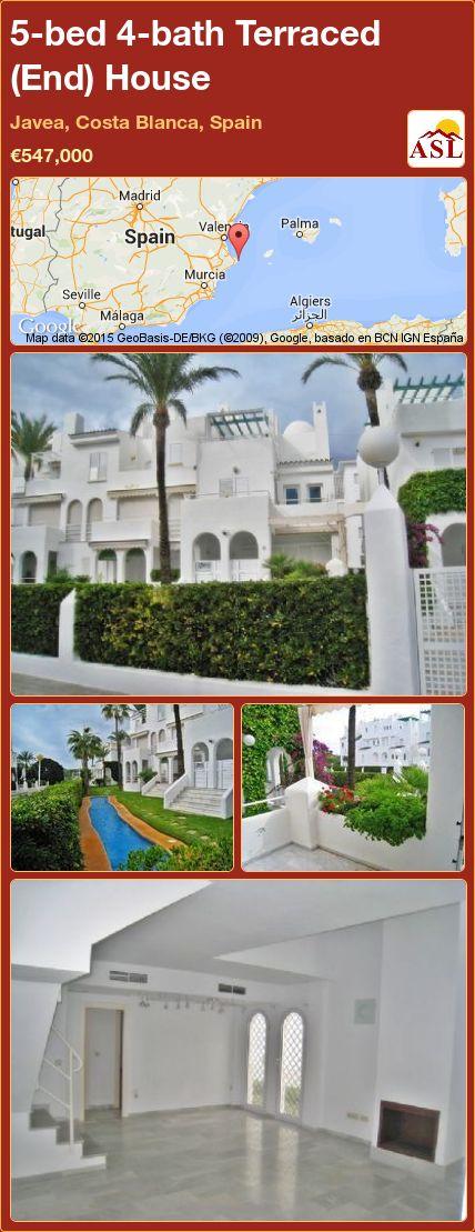 5-bed 4-bath Terraced (End) House in Javea, Costa Blanca, Spain ►€547,000 #PropertyForSaleInSpain