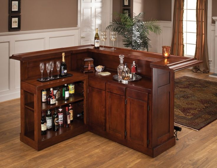 Beautiful Home Bar with Sidebar