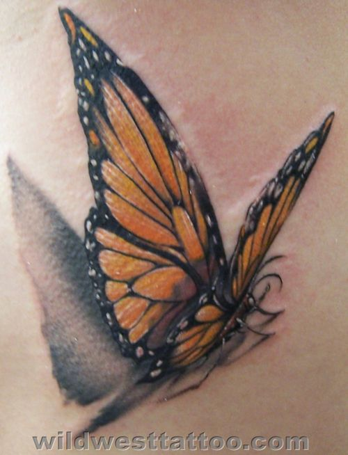 Monarch Butterfly Tattoo Design