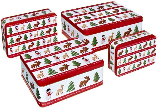 set di 4 scatole in latta  www.dolcementeweb.com