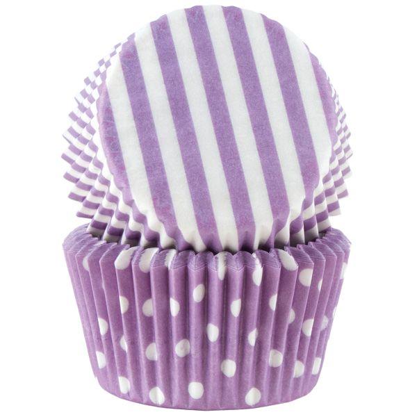 Cacas - Muffinsform Lilla Pastell Ass Std 50 Stk