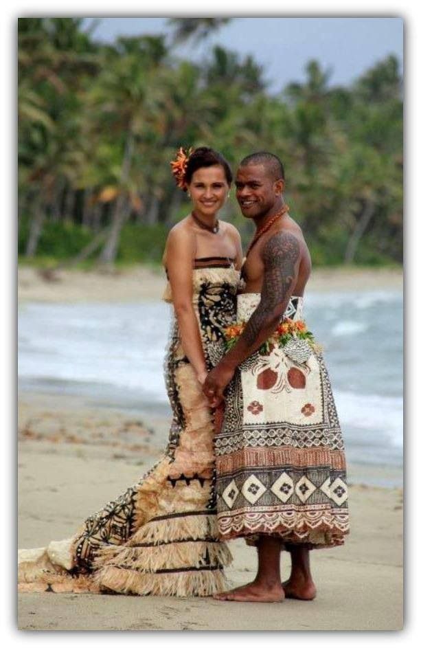 My wife would love to wear this traditional Fijian dress for a wedding gown. I don't know if I could pull off the man's look though. Ha!